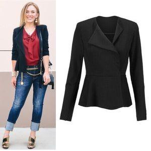 Cabi The Agency Jacket Ponte Knit Black Size 6
